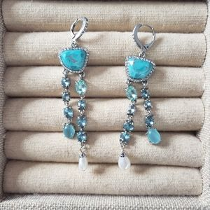 Maree drop turquoise earrings